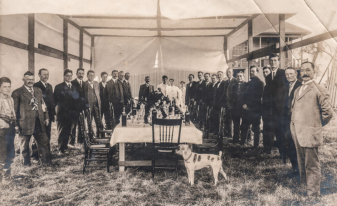 Banquet on Bacon Island, 1915. Photo: San Joaquin County Historical Museum